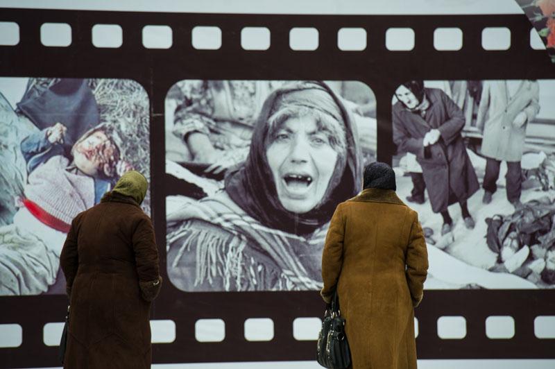 Xocalı soyqırımı qurbanlarının anım mərasimi. Bakı, 2013-cü il