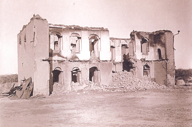 12 Göyçay qəzası Kürdəmir nahiyəsinin çaylı kəndində Fərman Rüstəm oğlunun malikanəsi 1918 ci il Soyqırımı: Göyçay qəzası