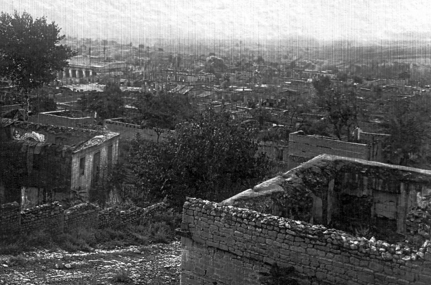 Şamaxı şəhərinin müsəlman hissəsinin ümumi mənzərəsi