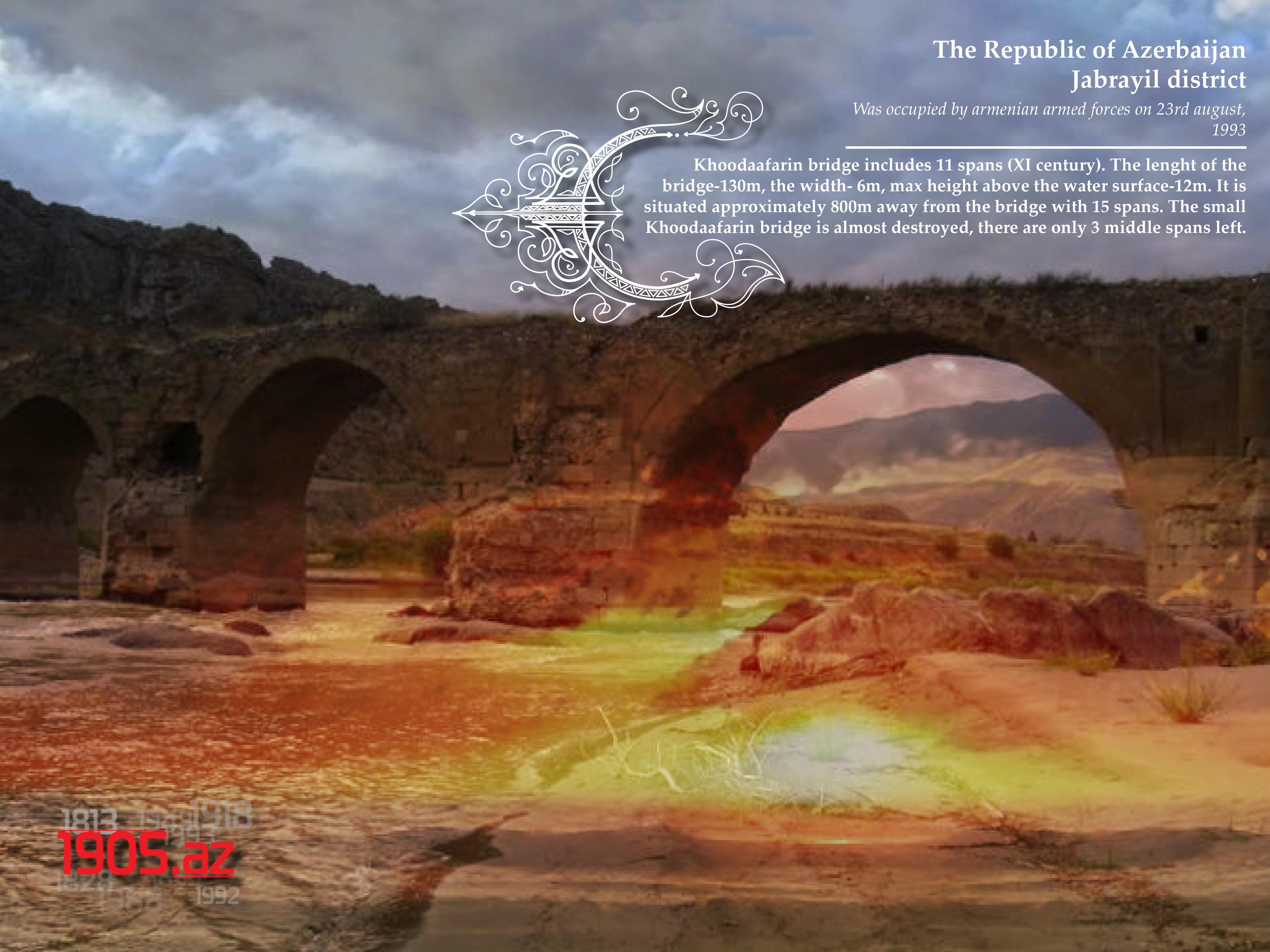 eng_Khoodaafarin bridge with 11 spans_Jabrayil district