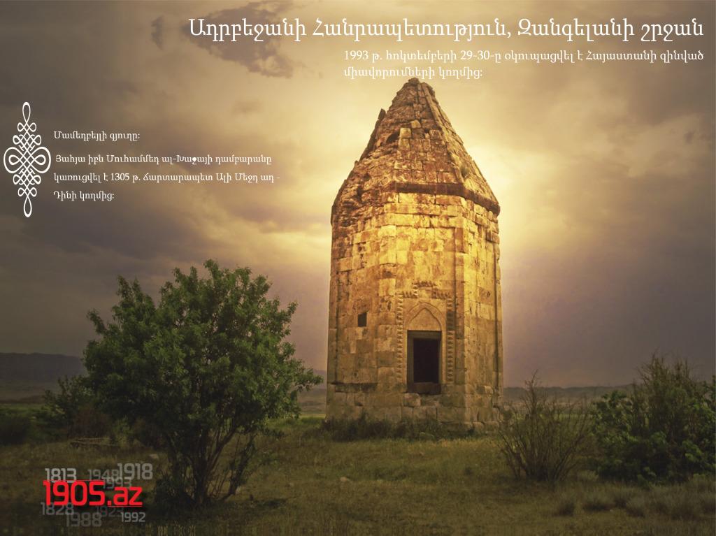Մամեդբեյլիի դամբարանը, Զանգելանի շրջան