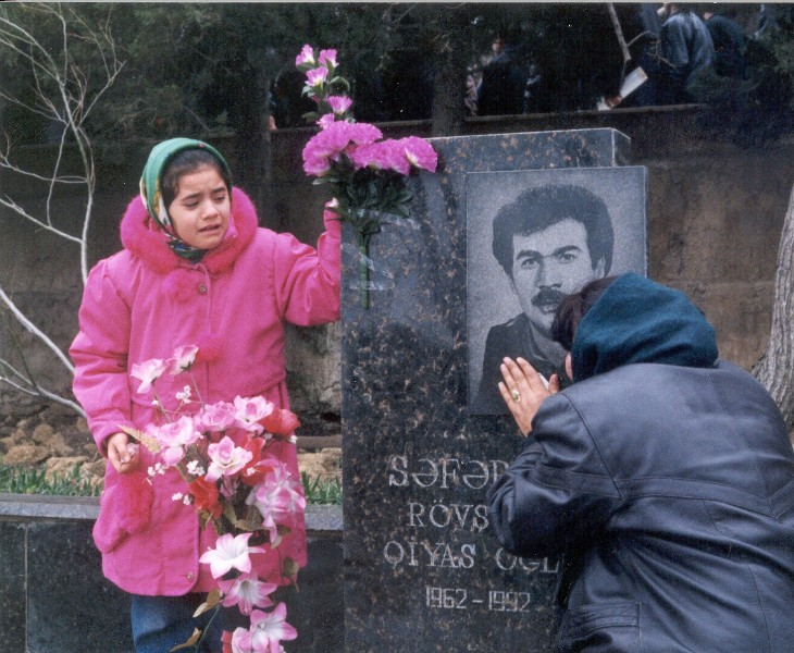 Tragedy of the families of martyrs Photo by Vugar Ibadov
