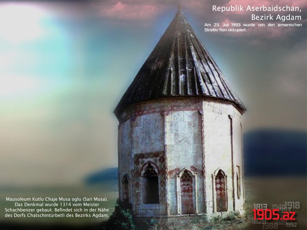 de_Mausoleum Sari Musa, Bezirk Agdam