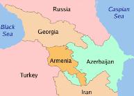 Qafqaz xəritə kicik