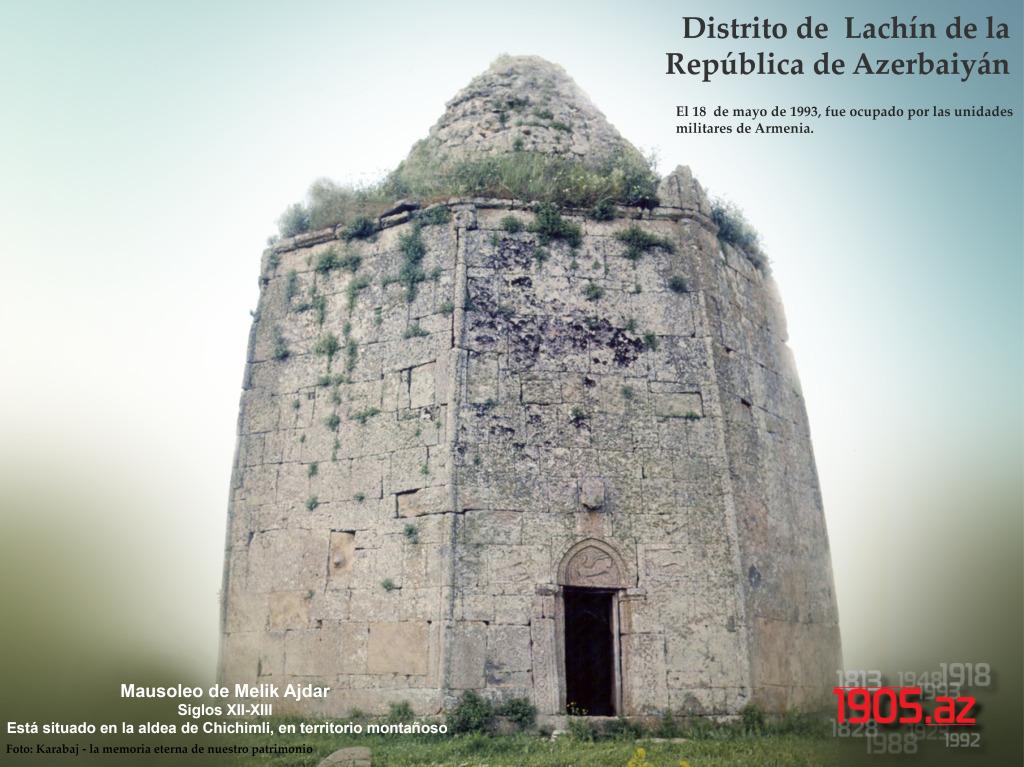 esp_Mausoleo de Melik Ajdar, disrtito de Lachín