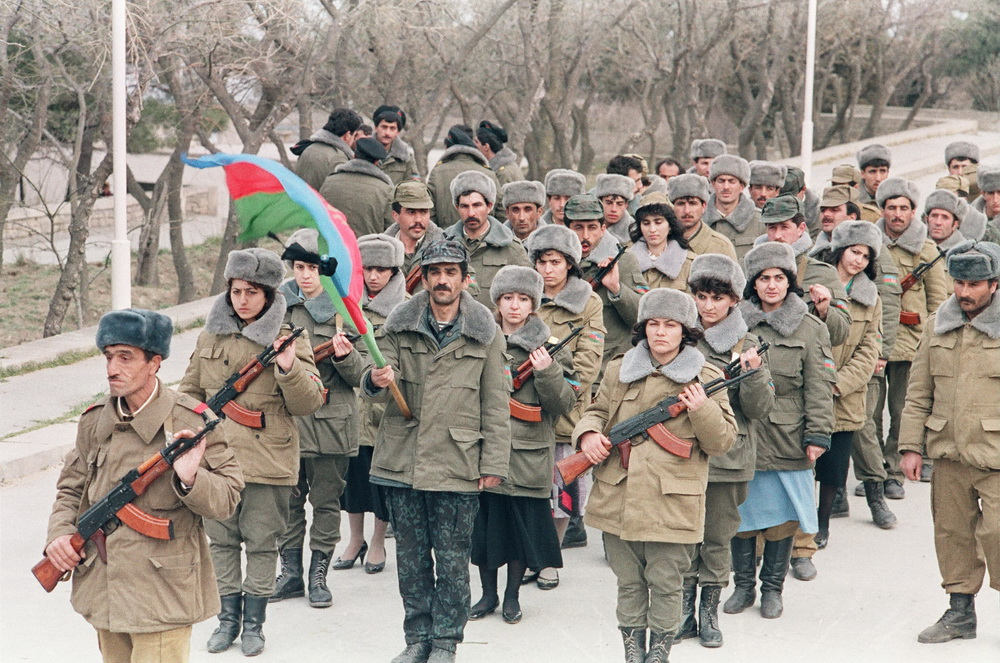 Qadın batalyonu, Bakı 1992