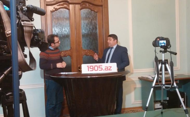 """""""1905.az Studio""""nun Ayaqüstü söhbət proqramının çəkilişindən fotolar"""