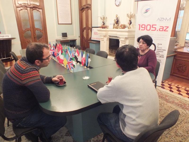 Tarix elmləri doktoru, professor Solmaz Tohidi ilə söhbət. 30.01.2015