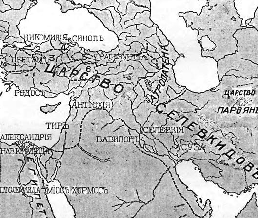 karta selevkidov