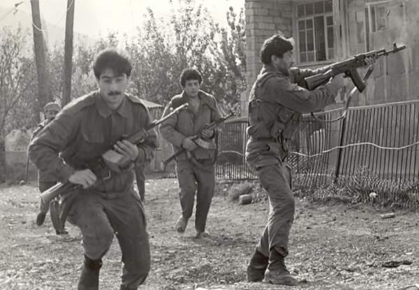 Özünü müdafiə dəstələri. Goranboy rayonu, Şəfəq kəndi. 1991-ci il
