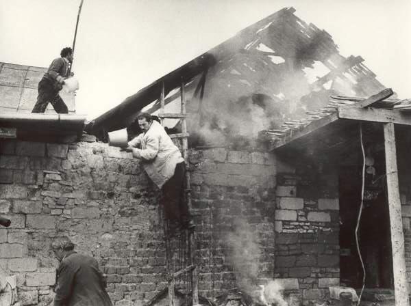 Ermənilərin törətdiyi yanğınlar. Goranboy rayonu, Todan kəndi. 1991-ci il