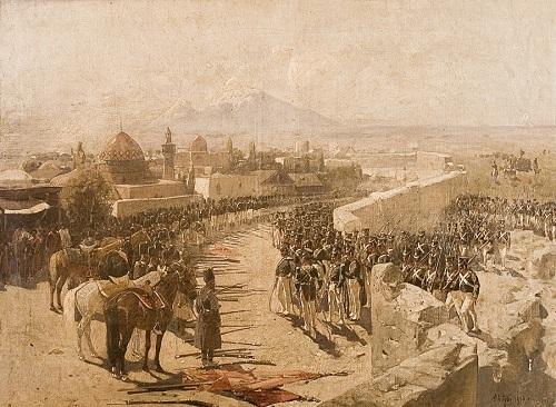 Взятие Иреванской крепости, 1827 г. Художник Ф.Рубо