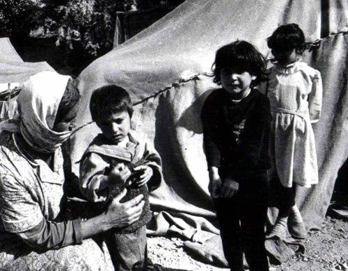 Первые беженцы