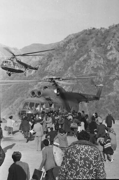 People fleeing Kalbajar
