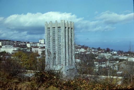 Şuşa, M.P.Vaqifin məqbərəsiylə şəhərin panoramı