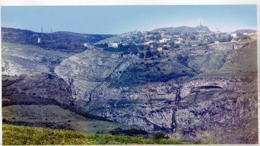 Şuşa, Molla Nəsrəddin yolundan şəhərin panoramı