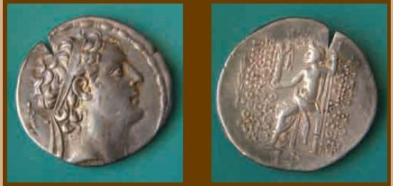 Тетрадрахма селевкидского царя Антиоха IV Эпифана