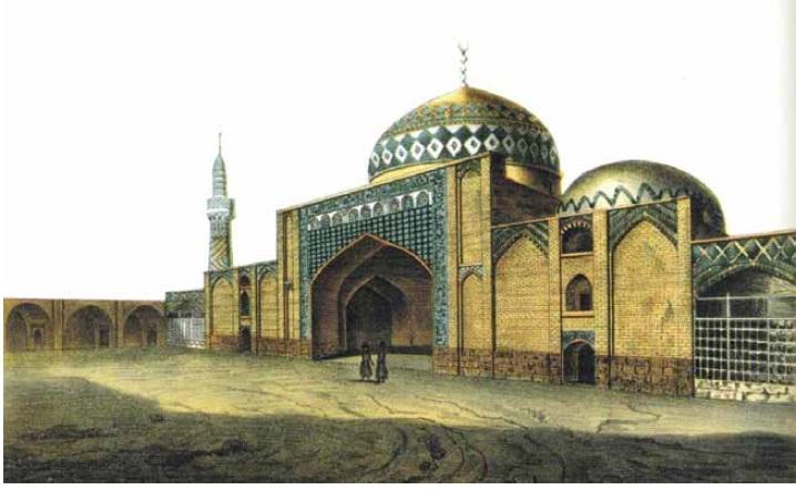 Дюбуа де-Монпере. «Мечеть в Эриванской крепости». XIX в.