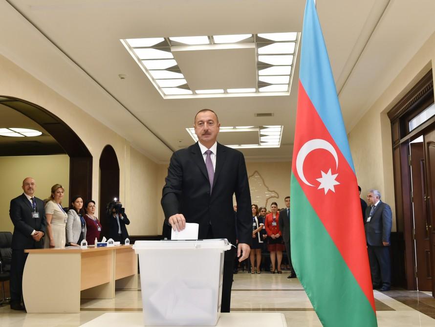 İlham Əliyev seçkilər ile ilgili görsel sonucu