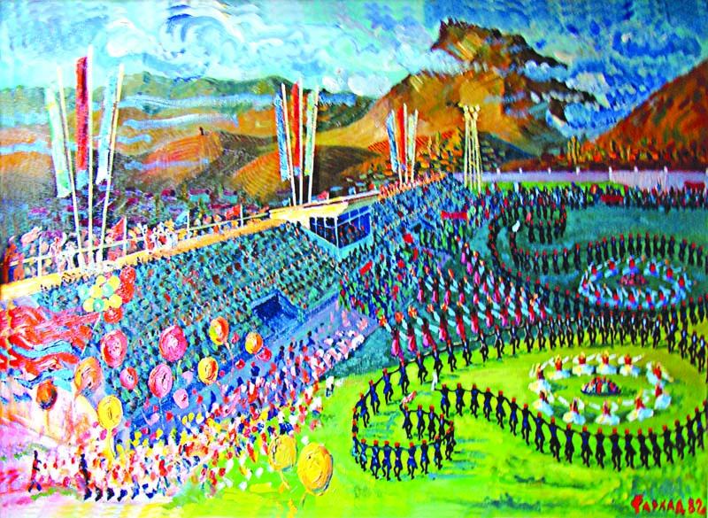 Şamaxıda Novruz bayramı. Rəssam Fərhad Hacıyev