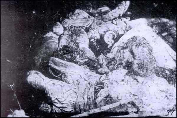 Tərcan, Mamaxatun bölgəsində erməni vandalizmi nəticəsində həlak olan qadın və uşaqlar
