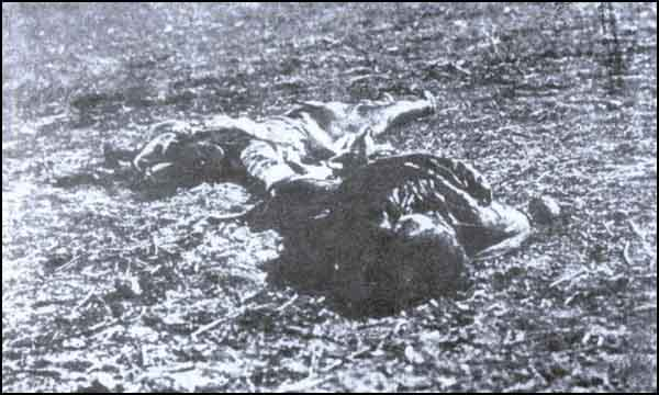 Turkish children strangled by the Armenians in Erzurum