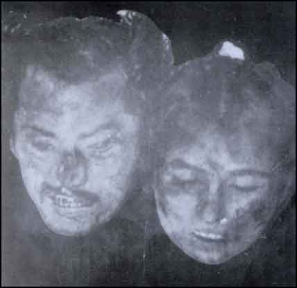 Two Turks beheaded by the Armenians.