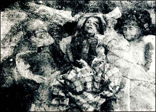 The family of Mushtak Efendi massacred by the Armenians in the Odabashi Street, Erzincan.