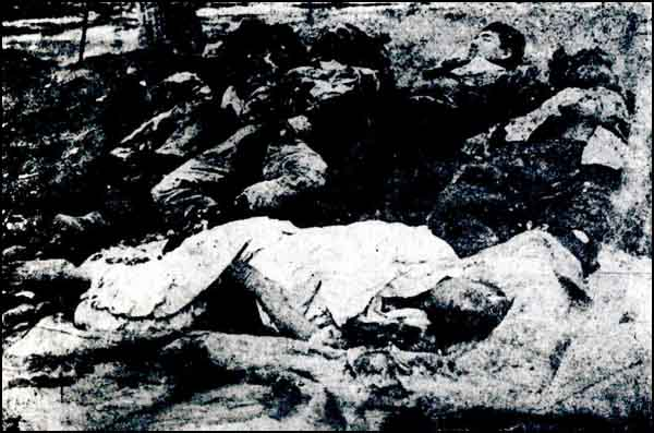 Turkish children and women massacred by the Armenians in Bayburt.