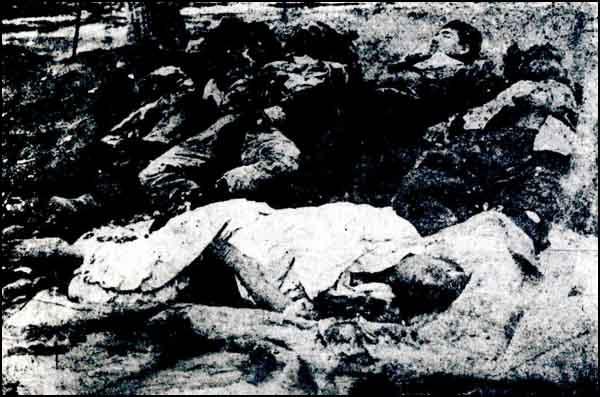 Turkish children and women massacred by the Armenians in Bayburt.