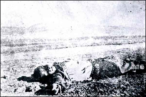 A Turkish man whose eyes were scooped out and killed by the Armenians.