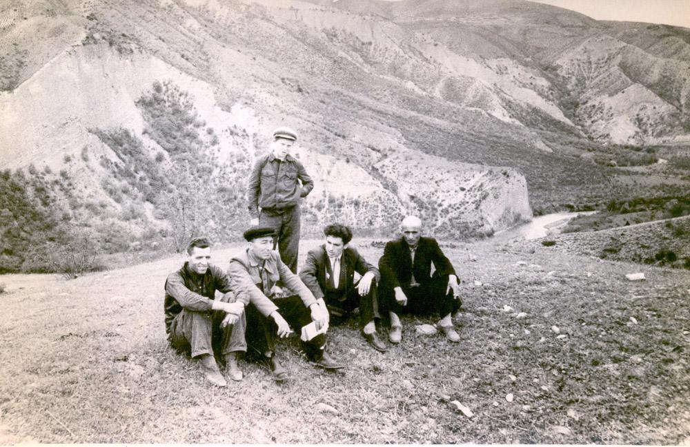 Qəbələ - Türyançay sahilində. Aprel 1960-cı il