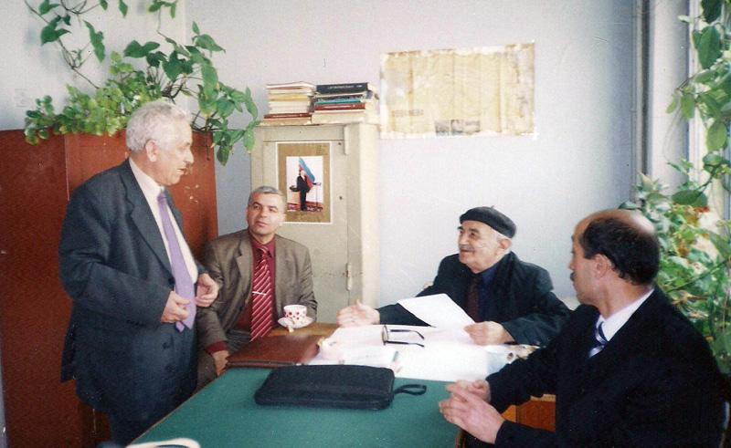 İlyas Babayev, İdeal Nərimanov və Əkbər Bədəlovla. May, 2005-ci il